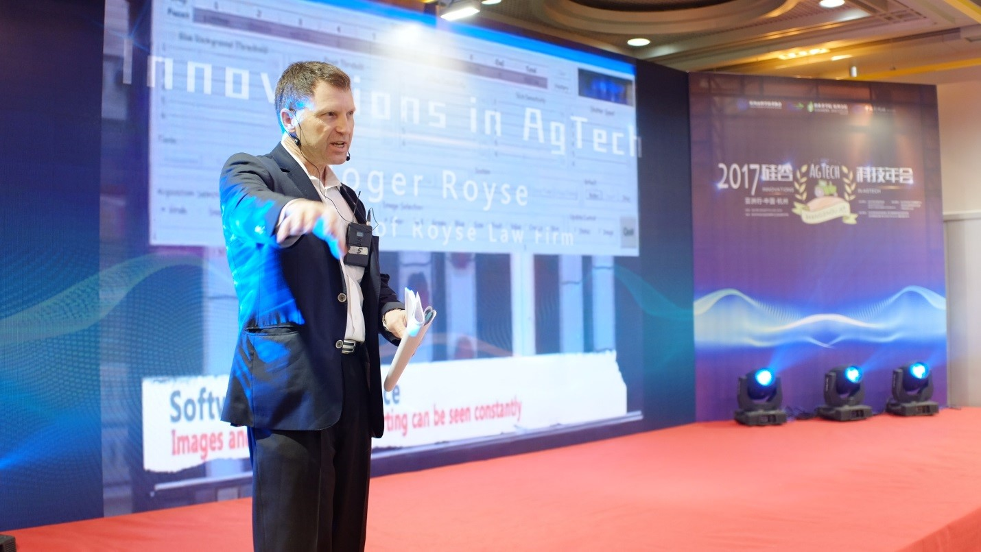 Roger Royse in China presenting on Agtech